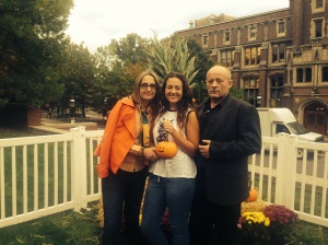 Victoria Gasparowicz poses with her mother and father at Princeton University during Parents' Weekend.